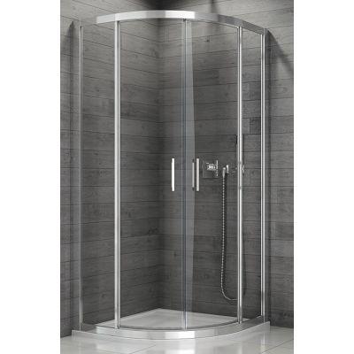 SanSwiss TOP-Line kabina prysznicowa 80 cm półokrągła biel/durlux TER550800422