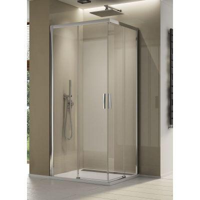 SanSwiss Top Line S kabina prysznicowa 80x80 cm srebrny połysk/szkło przezroczyste TLSAC0805007