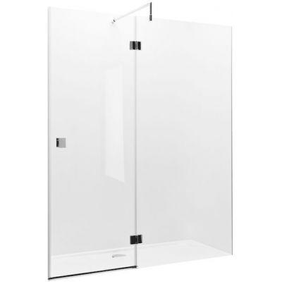 Roca Metropolis drzwi prysznicowe 140 cm z polem stałym AMP3414012M