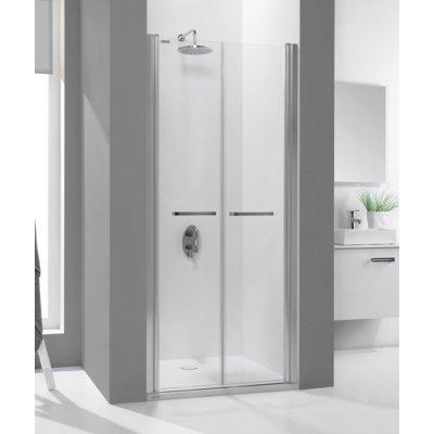 Sanplast Prestige III drzwi prysznicowe skrzydłowe 100 cm 600-073-0940-01-401