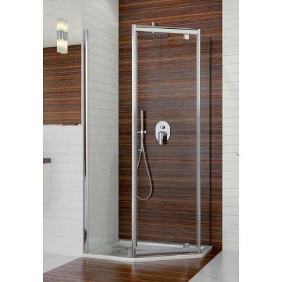 Sanplast TX kabina prysznicowa 90x90 cm pięciokątna PKDJ/TX5b-90 biały/Sitodruk W15 600-271-0930-01-231