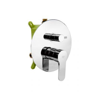 Kfa Hexa bateria wannowo-prysznicowa podtynkowa Ring 35 chrom 3529-410-00