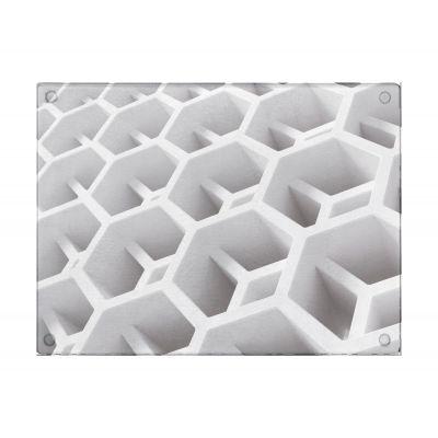 Deante deska kuchenna szklana wzór heksagony ZZD001D