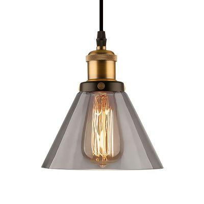 Altavola Design New York Loft lampa wisząca 1x40W mosiądz/dymny LA034/P_smoky