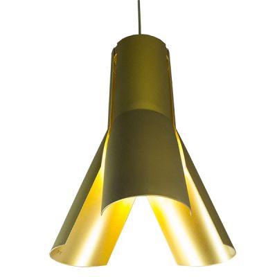 Altavola Design Origami lampa wisząca 1x40W chrom/coffee/złoty LA045/P_bronze