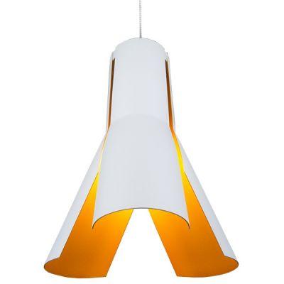 Altavola Design Origami lampa wisząca 1x40W biały/chrom/pomarańczowy LA045/P_white-orange