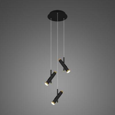 Altavola Design Lunette lampa wisząca 6x3W czarny matowy/złoty LA062/P3_black