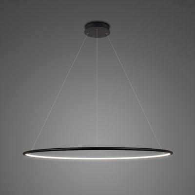 Altavola Design Ledowe Okręgi lampa wisząca 1x55W czarna LA073/P_100_in_4k_black