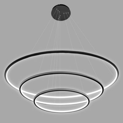 Altavola Design Ledowe Okręgi lampa wisząca 99W czarna LA075/P_80_in_3k_black