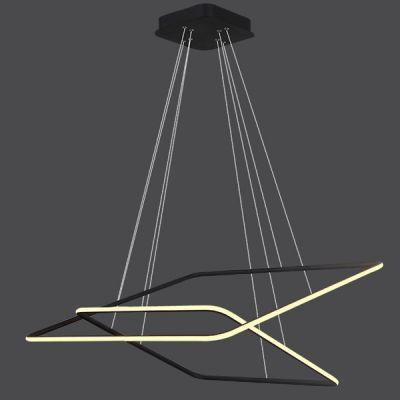 Altavola Design Ledowe Kwadraty lampa wisząca 64W czarna LA077/P_60_out_3k_black