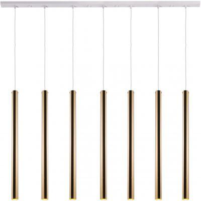 Amplex Akadi lampa wisząca 7x25W biała/złota 0145