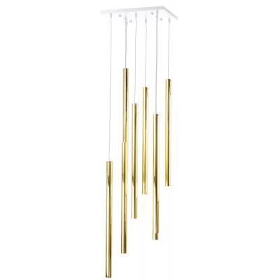 Amplex Akadi lampa wisząca 8x25W biała/złota 0146