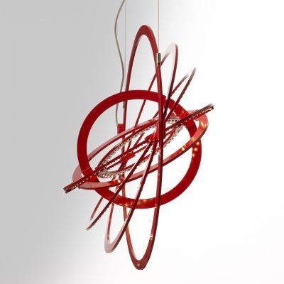 Artemide Copernico 500 lampa wisząca 1x27W czerwona 1608040A