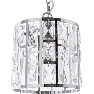CosmoLight Moscow II lampa wisząca 1x40W chrom/kryształ P01841CH