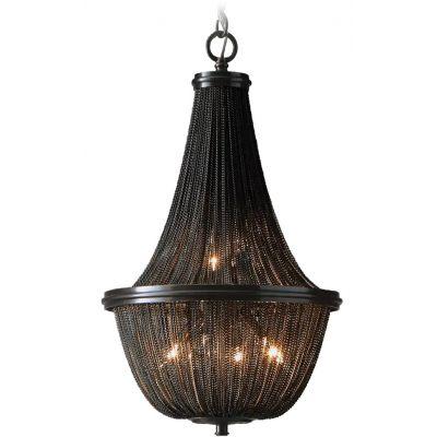 CosmoLight Roma lampa wisząca 4x40W czarna P04543BK