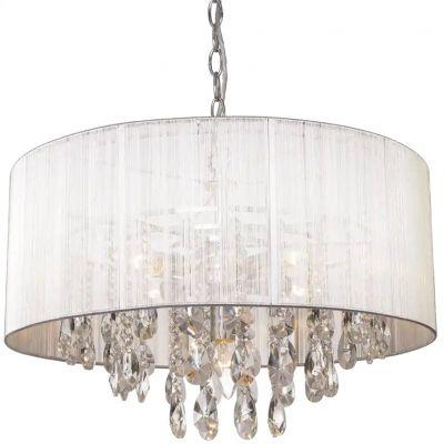 CosmoLight Singapore lampa wisząca 5x40W biały/chrom P05383WH
