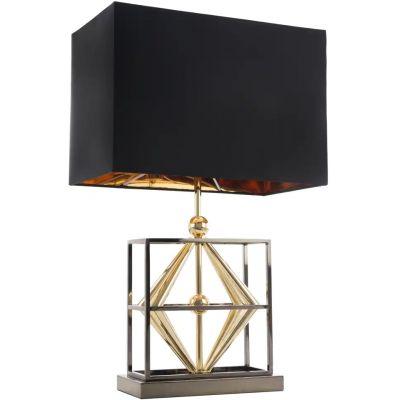CosmoLight Quito lampa stołowa 1x40W czarny/złoty T01939BKAU