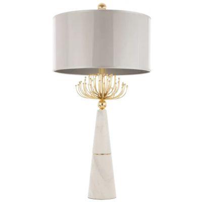 CosmoLight Cartagena lampa stołowa 2x40W biały/złoty T02004AU