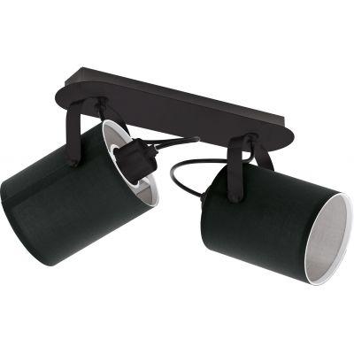 Eglo Villabate lampa podsufitowa 2x10W czarny/biały 33646