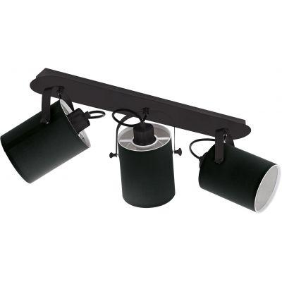 Eglo Villabate lampa podsufitowa 3x10W czarny/biały 33647
