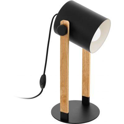 Eglo Hornwood lampa stołowa 1x28W czarny/kremowy/brązowy 43047