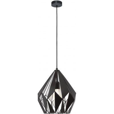 Eglo Carlton lampa wisząca 1x60W czarny/srebrny 49255