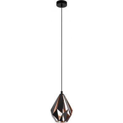 Eglo Carlton lampa wisząca 1x60W czarny/miedź 49997