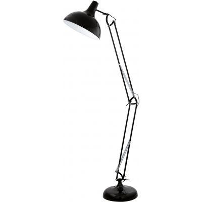 Eglo Borgillio lampa stojąca 1x60W czarna 94698