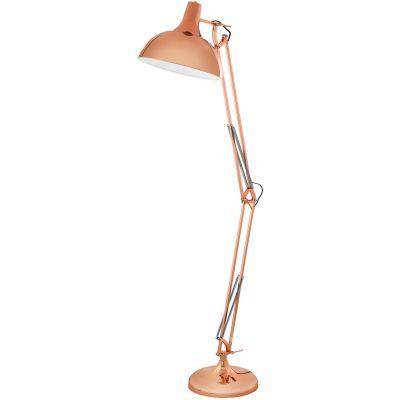 Eglo Borgillio lampa stojąca 1x60W miedź 94705