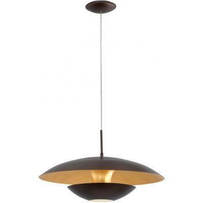Eglo Nuvano lampa wisząca 1x60W brązowy/złoty 95755