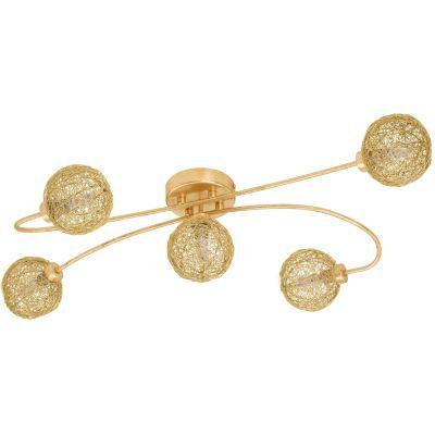 Eglo Caris lampa podsufitowa 5x3W złota 97726