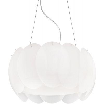 Ideal Lux Ovalino lampa wisząca 5x60W biała 074139