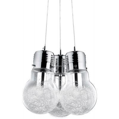 Ideal Lux Luce Max lampa wisząca 3x60W aluminiowa 081762