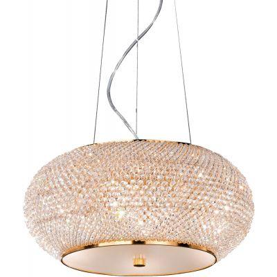 Ideal Lux Pasha lampa wisząca 6x40W złota 082172