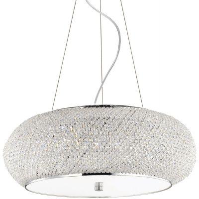 Ideal Lux Pasha lampa wisząca 10x40W chrom 082196