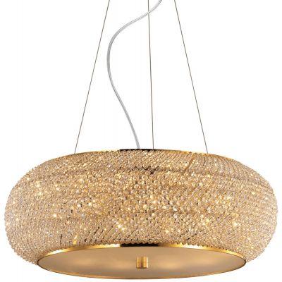 Ideal Lux Pasha lampa wisząca 10x40W złota 082257
