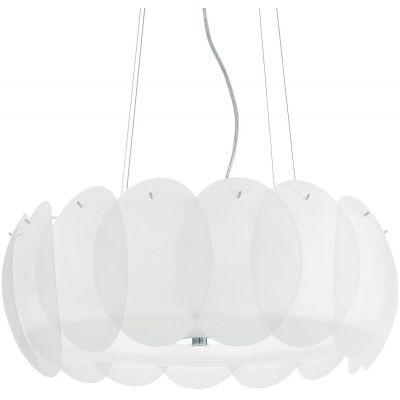 Ideal Lux Ovalino lampa wisząca 8x60W biała 090481
