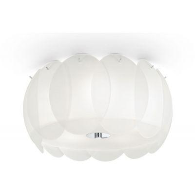 Ideal Lux Ovalino lampa podsufitowa 5x60W biała 093963