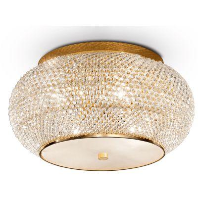Ideal Lux Pasha lampa podsufitowa 6x40W złota 100807