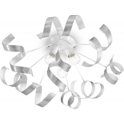 Ideal Lux Vortex PL3 lampa podsufitowa 3x40W biała/srebrna 101576