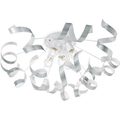 Ideal Lux Vortex SP6 lampa podsufitowa 5x40W biała/srebrna 101590