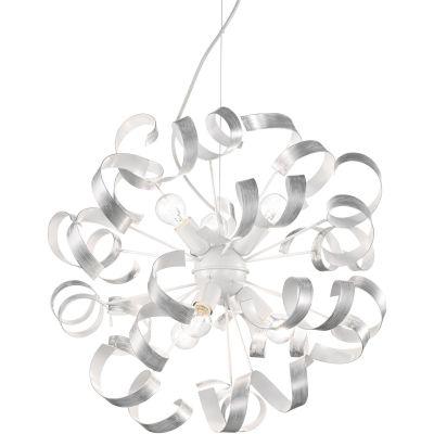 Ideal Lux Vortex SP6 lampa wisząca 6x60W biała/srebrna 101613
