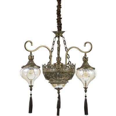 Ideal Lux Harem lampa wisząca 5x60W patyna 115993