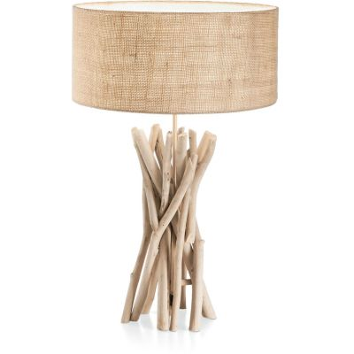 Ideal Lux Driftwood lampa stołowa 1x60W drewniana 129570