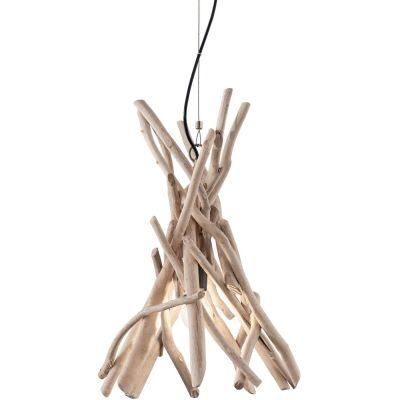 Ideal Lux Driftwood lampa wisząca 1x60W drewniana 129600