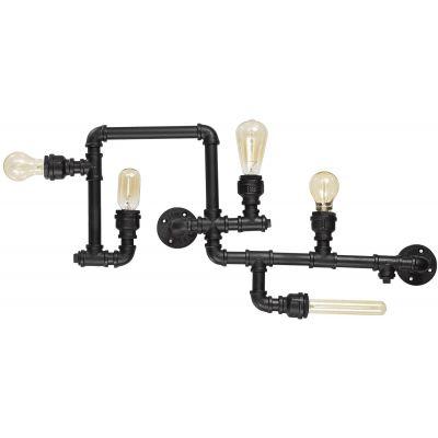 Ideal Lux Plumber lampa podsufitowa 5x42W czarna 136707