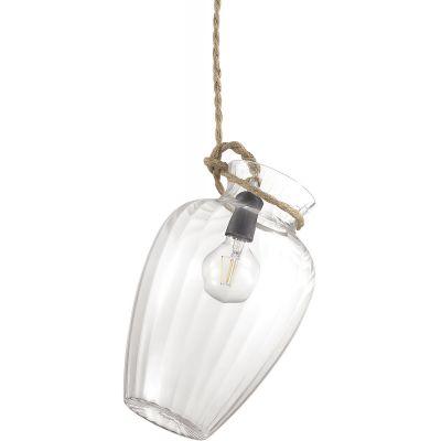 Ideal Lux Potty lampa wisząca 1x60W przezroczysta 158709