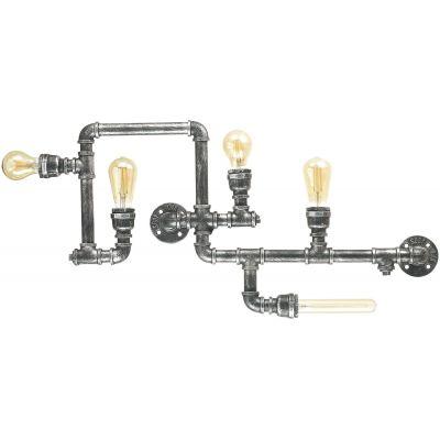 Ideal Lux Plumber lampa podsufitowa 5x42W antyczna czerń 175324