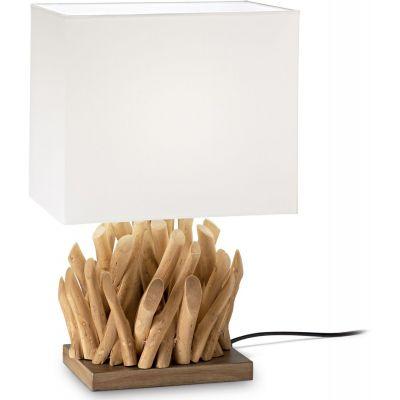 Ideal Lux Snell lampa stołowa 1x60W drewniana 201382