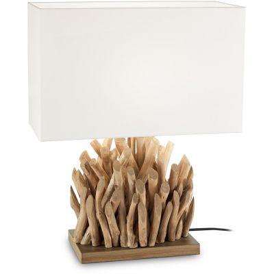 Ideal Lux Snell lampa stołowa 1x60W drewniana 201399